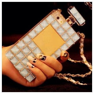 Image of Diamond Studded Chanel Inspired Case