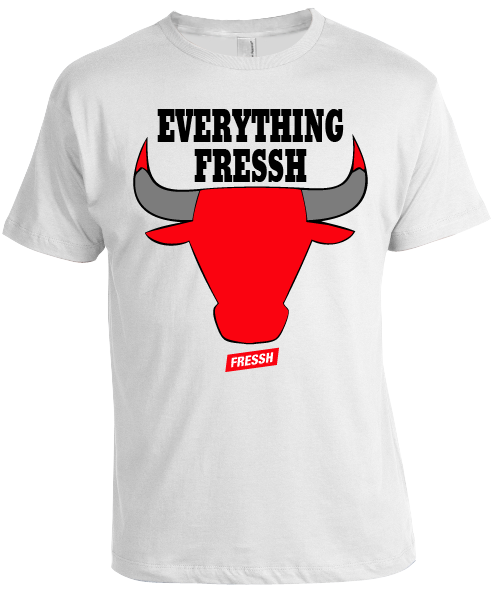 "Image of ""Everything Fressh"" White Chicago T-Shirt"