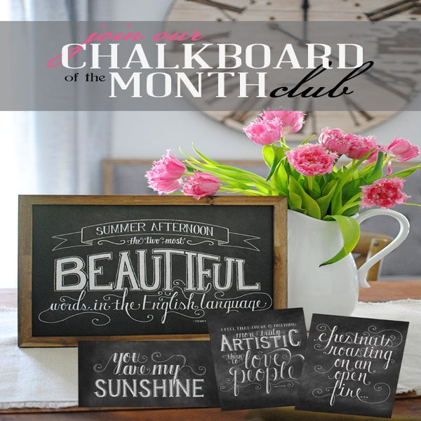 Image of 11x14 Monthly Chalkboard Print Club (6 months)