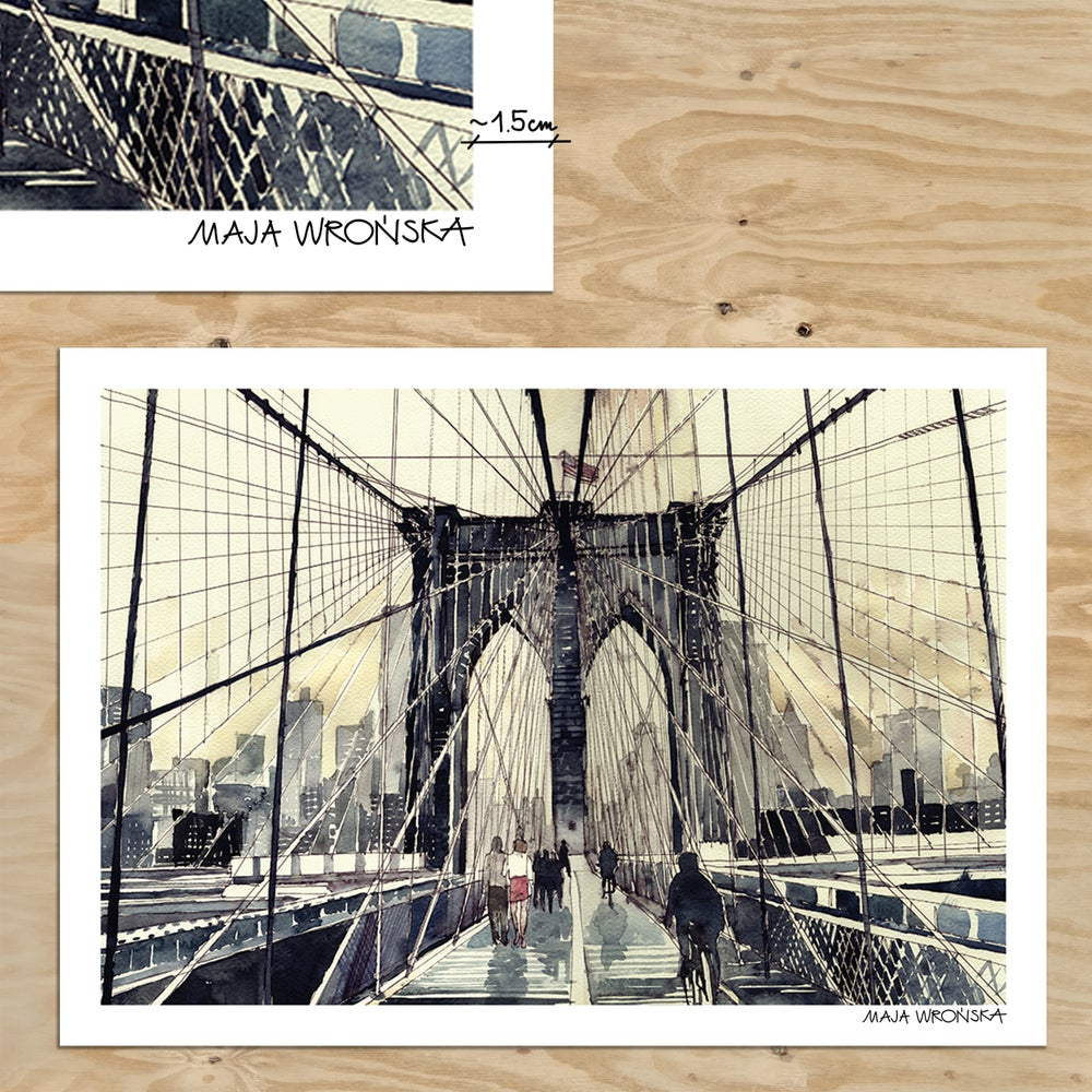 Image of Brooklyn Bridge print