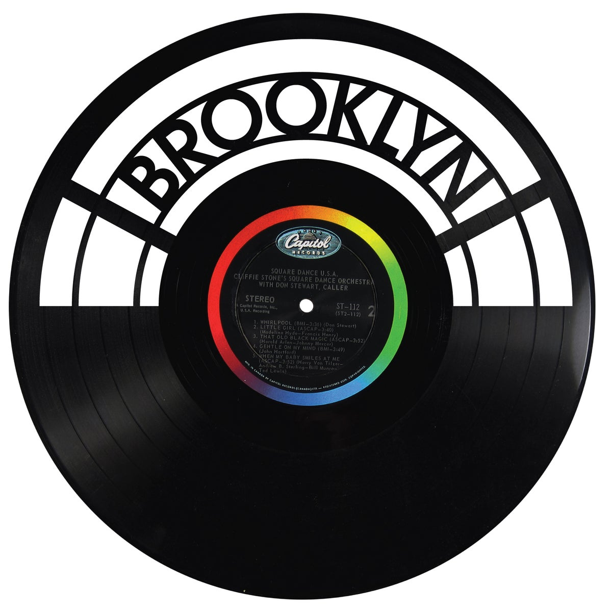 Wrecords By Monkey Laser Cut Record Wall Art