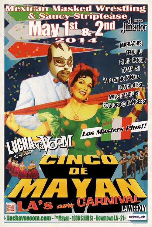 Image of Lucha VaVOOM Cinco de Mayan 2014 poster