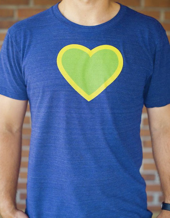 Image of Unisex Green Heart Classic Tee