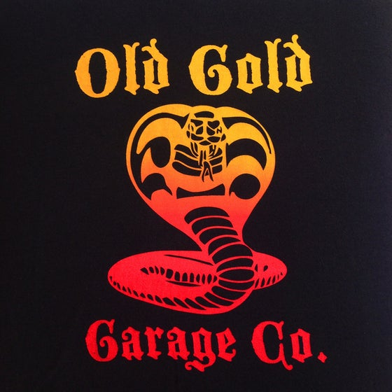 "Image of NEW! Old Gold ""Cobra King"" T-shirt /hand pulled yellow to red"