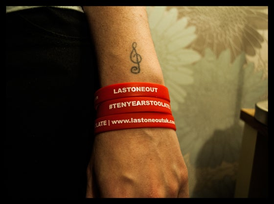 Image of TenYearsTooLate Wristbands