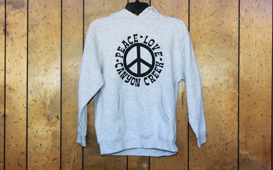 Image of Peace Love Canyon Creek Hoodie - Youth