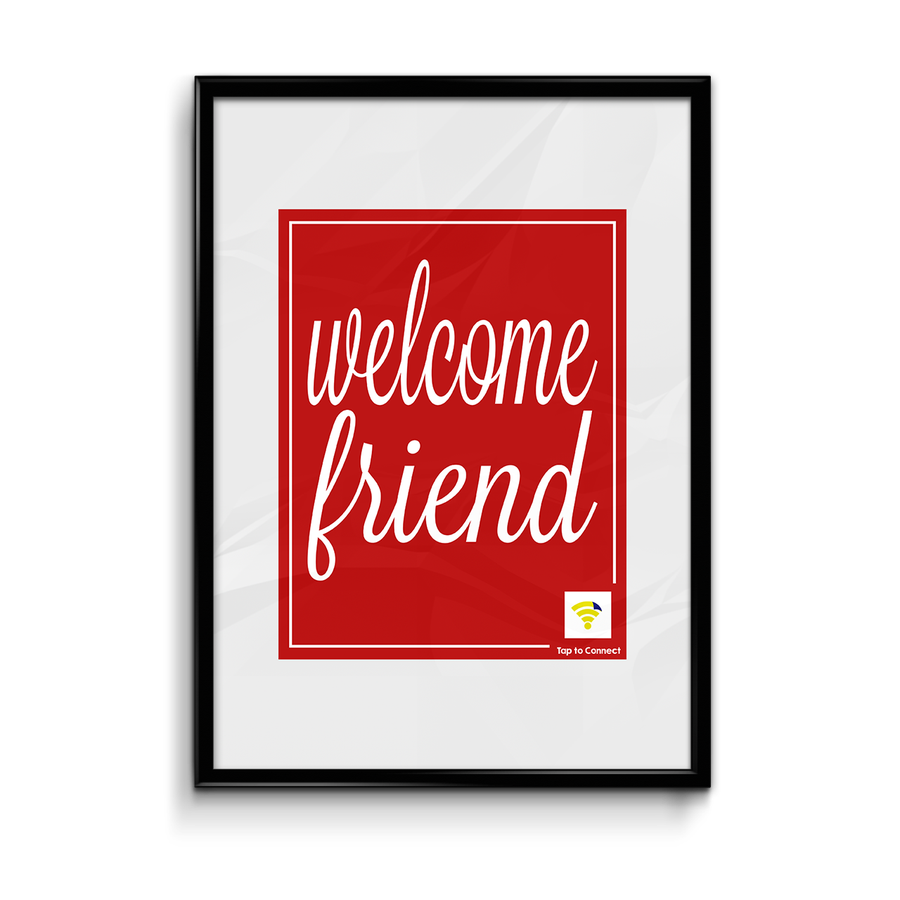 "Image of Red ""Welcome Friend"" WiFlyr"
