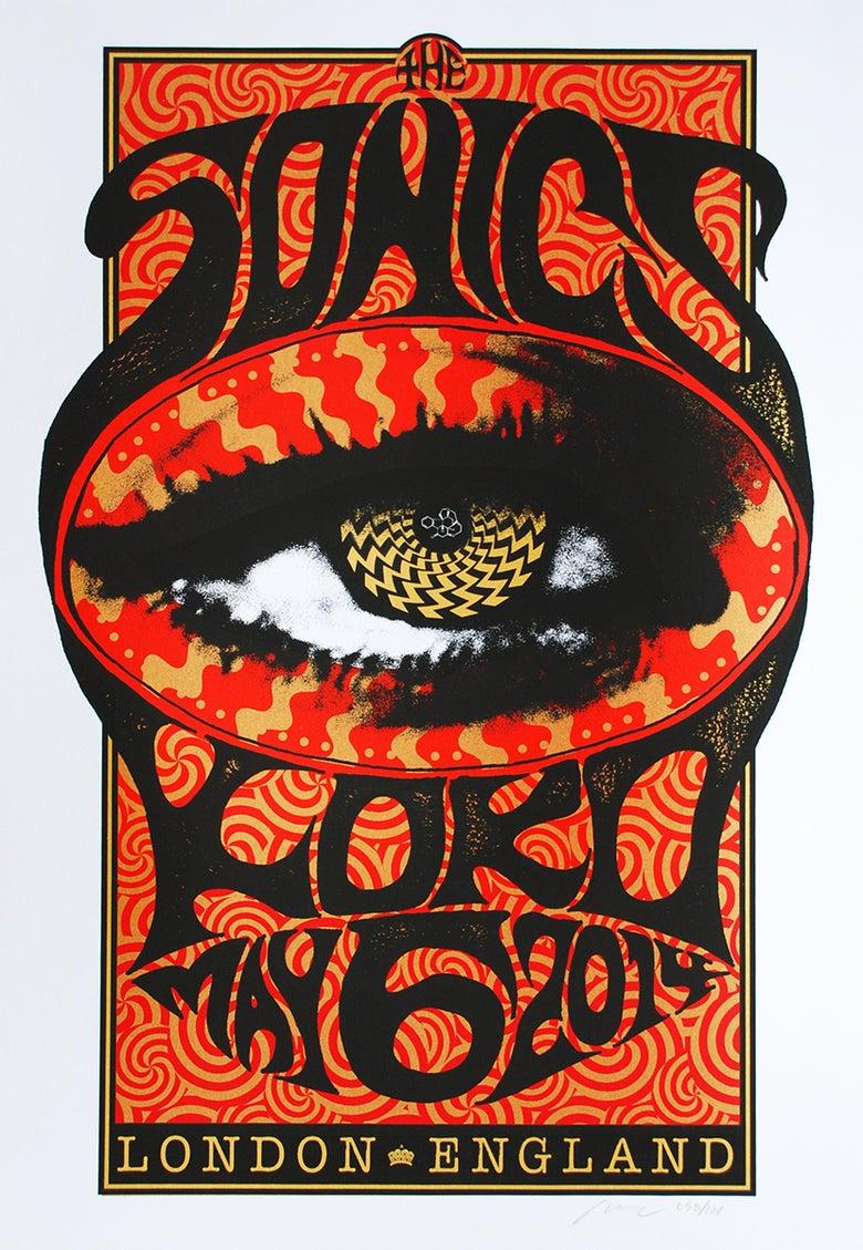 Image of The Sonics Silkscreen Poster London May 6 2014 Koko