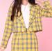 Image of Ready To Post - Cher Blazer in Yellow Tartan