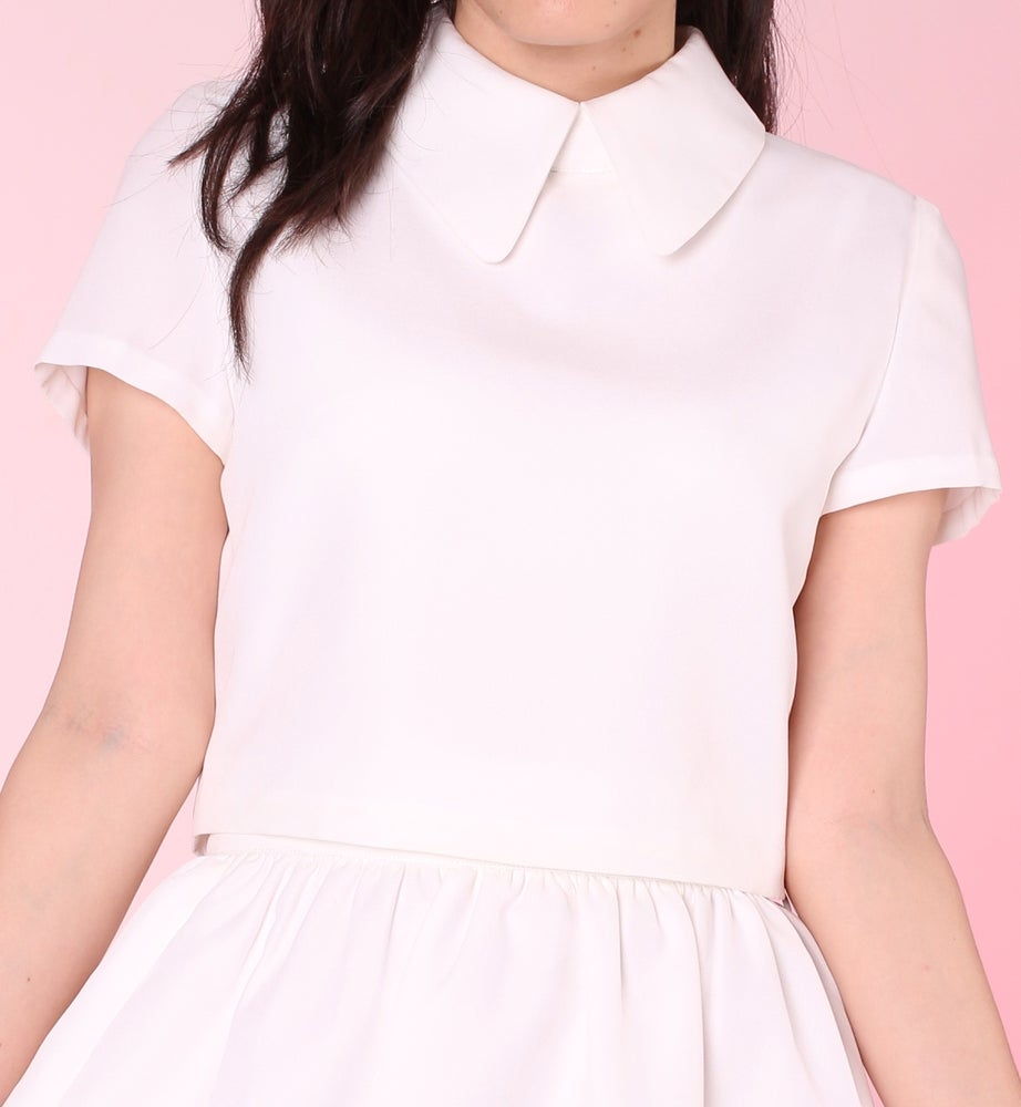 Image of Made To Order - All White Clueless Collared Top