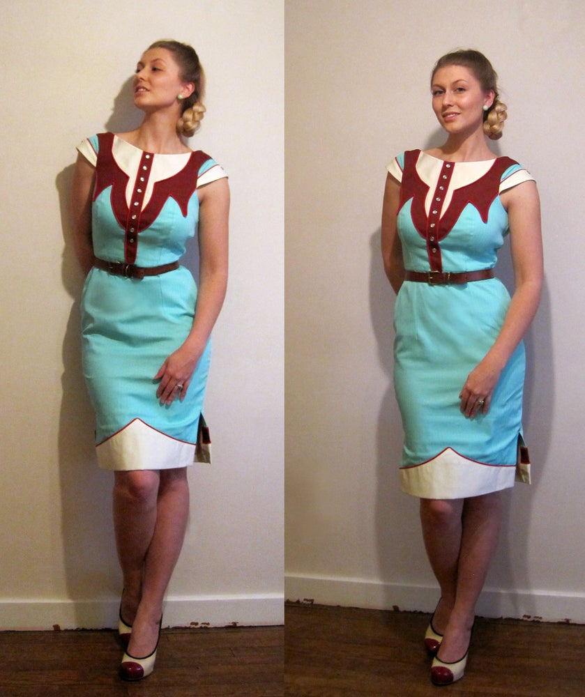 Image of The Dale Dress - Vintage Aqua