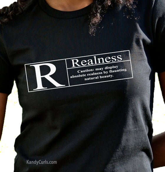 Image of Realness (White) - Natural Hair T-shirt