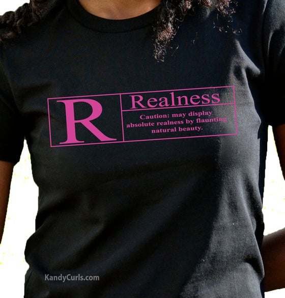 Image of Realness (Fushia) - Natural Hair T-shirt
