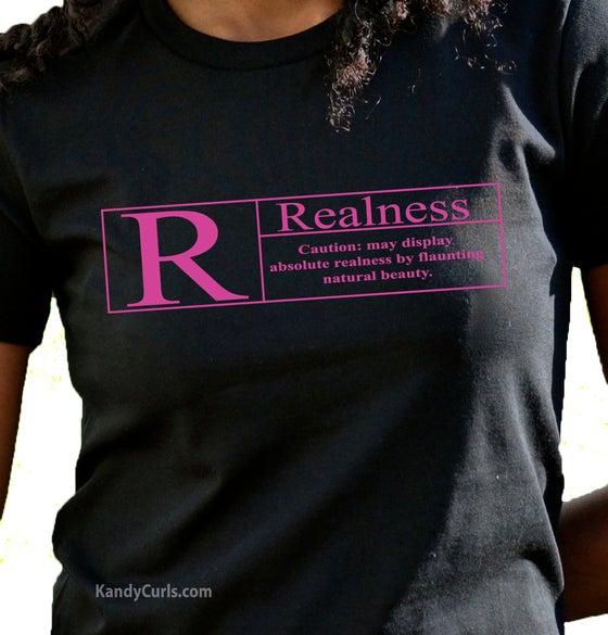 Image of Realness (Fushia) - Natural Hair T-shirt