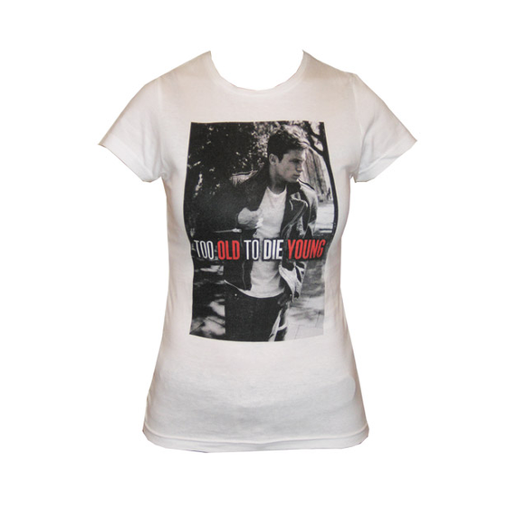 "Image of T-Shirt Bastian Baker ""Too Old To Die Young"""