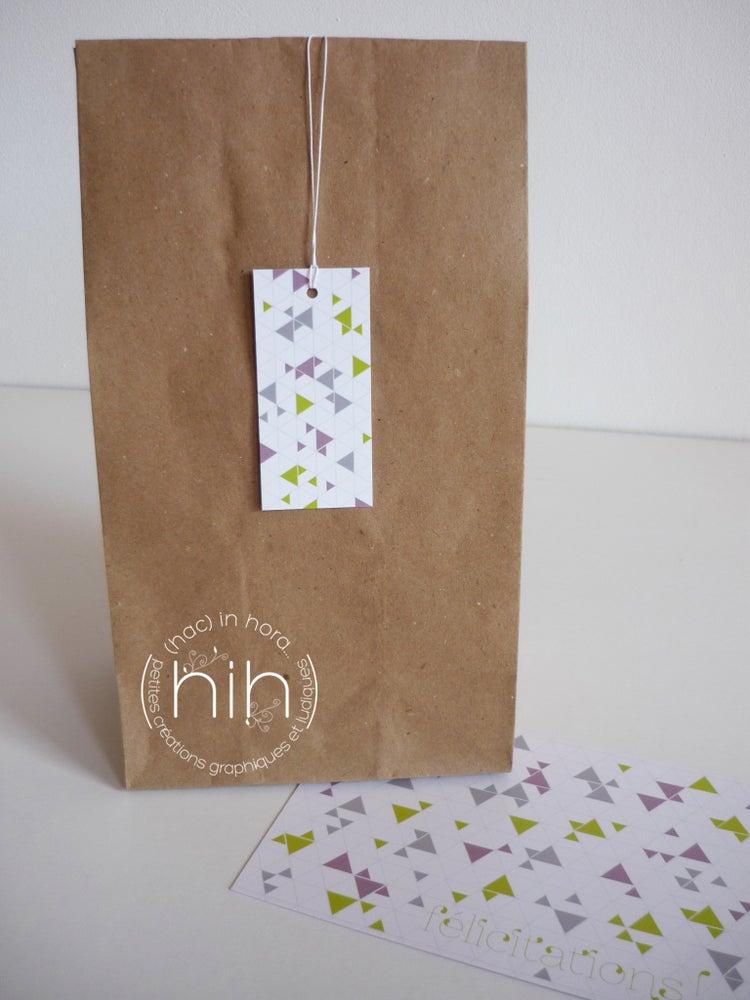 Image of 6 étiquettes cadeau ▲triangolini▲ 'félicitations !'