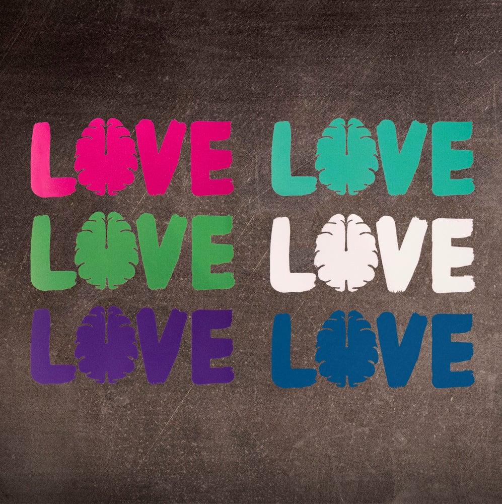 """Image of Love Your Brain Die Cut 6"""" Sticker"""