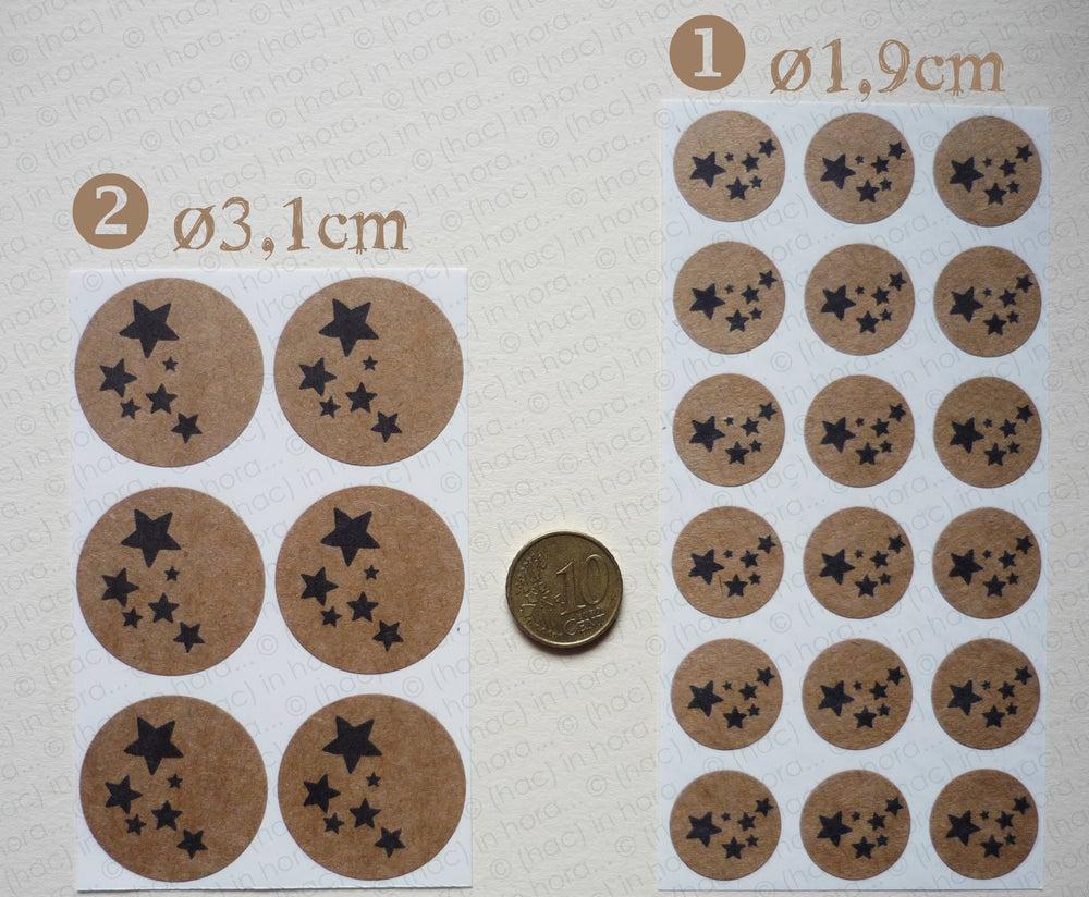 Image of petit stickers #kraft# nuée d'étoiles
