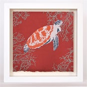 Image of Turtle on Burnt Red