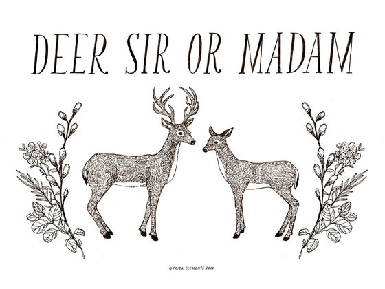 Image of Deer Sir Or Madam / Mini Print
