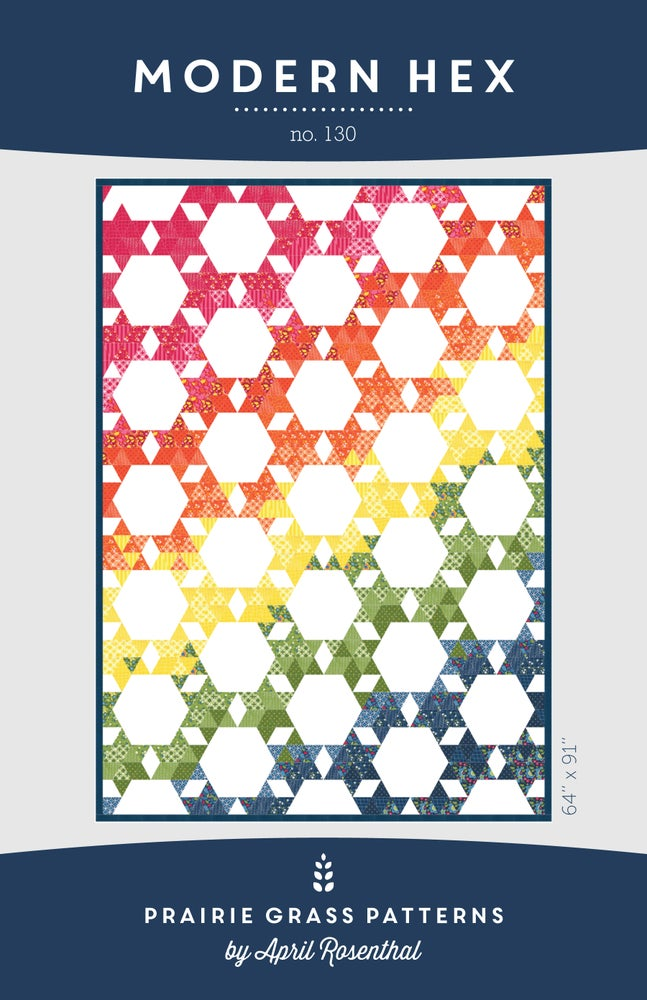 Image of Modern Hex: Quilting Pattern #130