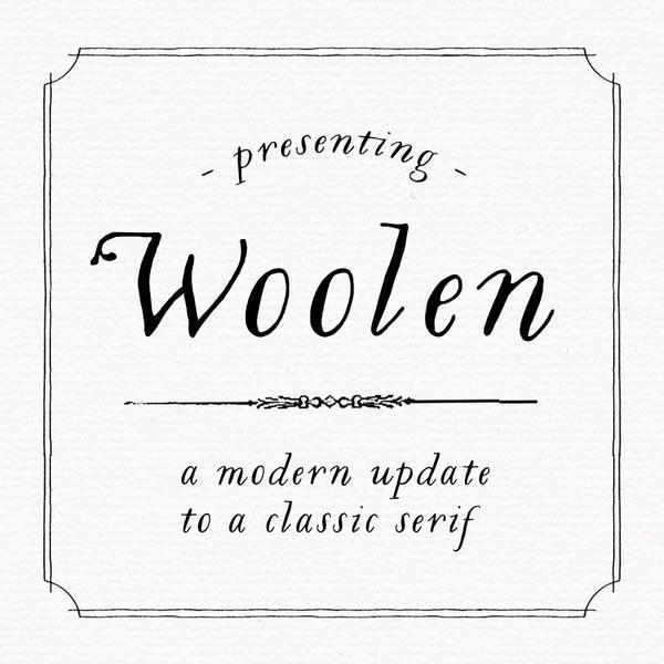 Woolen Font - Magpie Paper Works