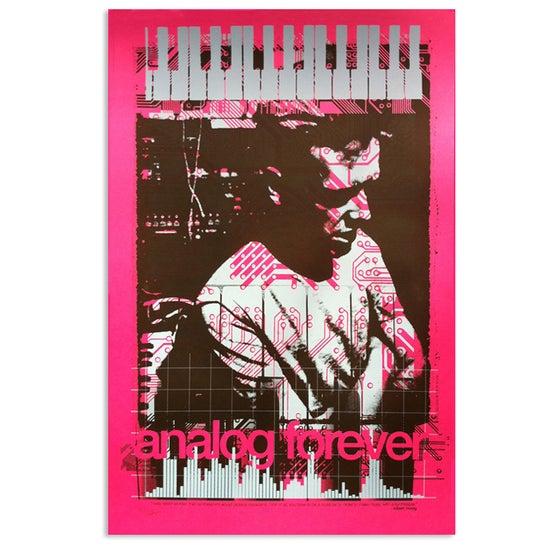 """Image of """"Analog Forever"""" art print inspired by Bob Moog"""