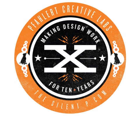 "Image of The Silent P ""Making Design Work"" Vinyl Sticker"