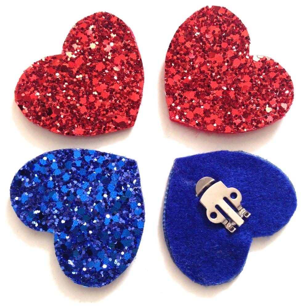 Image of Glitter Heart Shoe Clips