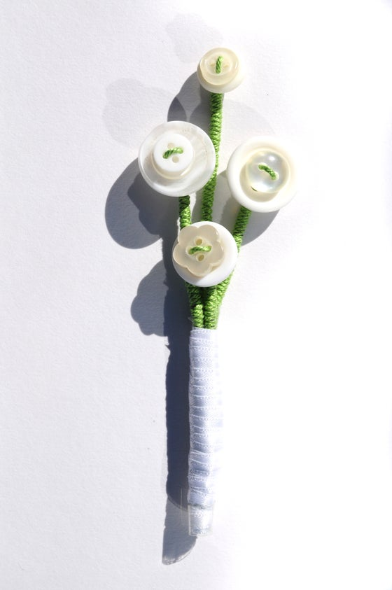 Image of White Button Buttonhole