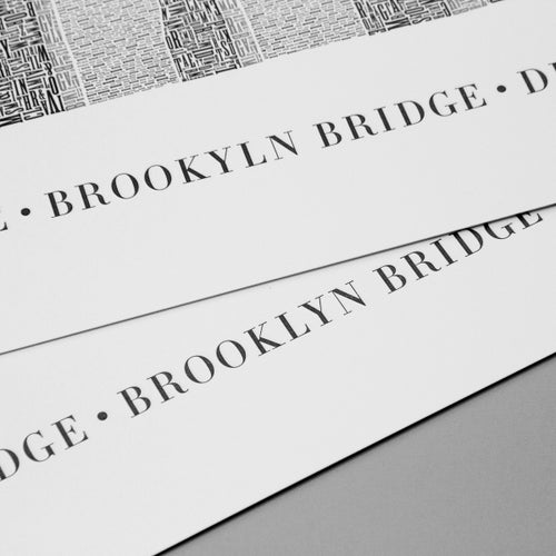 "Image of Brooklyn Bridge 24""x16"" Letterpress Poster"