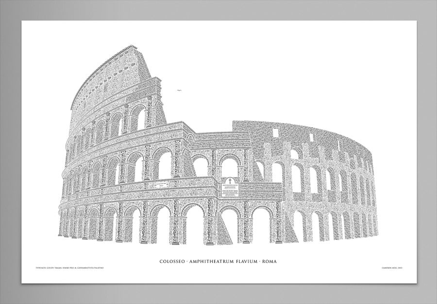 "Image of Colosseo 24""x16"" Signed Poster (Pearl)"