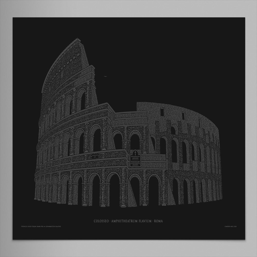 Image of Colosseo 24″x16″ Limited Edition Poster (Black)
