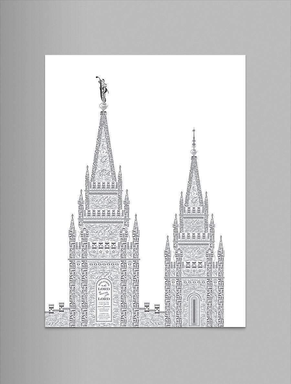 "Image of Salt Lake 9""x12"" Letterpress Print"