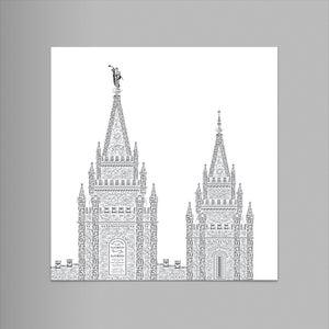 """Salt Lake 9""""x12"""" Letterpress Print"""
