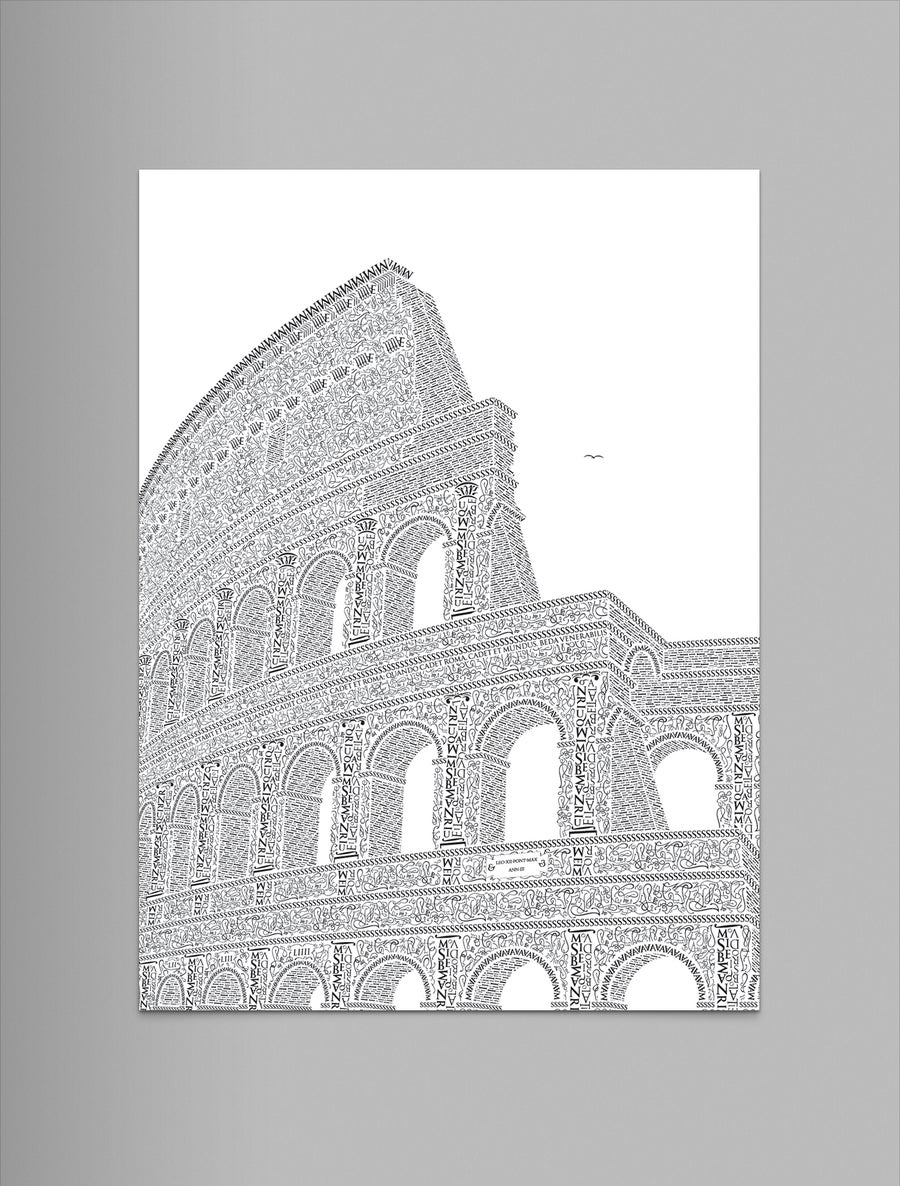 "Image of Colosseo 9""x12"" Letterpress Print (Pearl)"