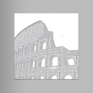 "Colosseo 9""x12"" Letterpress Print (Pearl)"