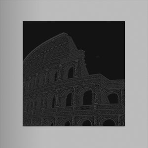 "Colosseo 9""x12"" Letterpress Print (Black)"