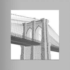 "Brooklyn Bridge 9""x12"" Letterpress Print"