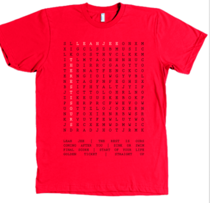 Image of Apparel: Word Search T-Shirt