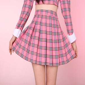 Image of Ready to Post - Pink As If Tartan Pleated Skirt