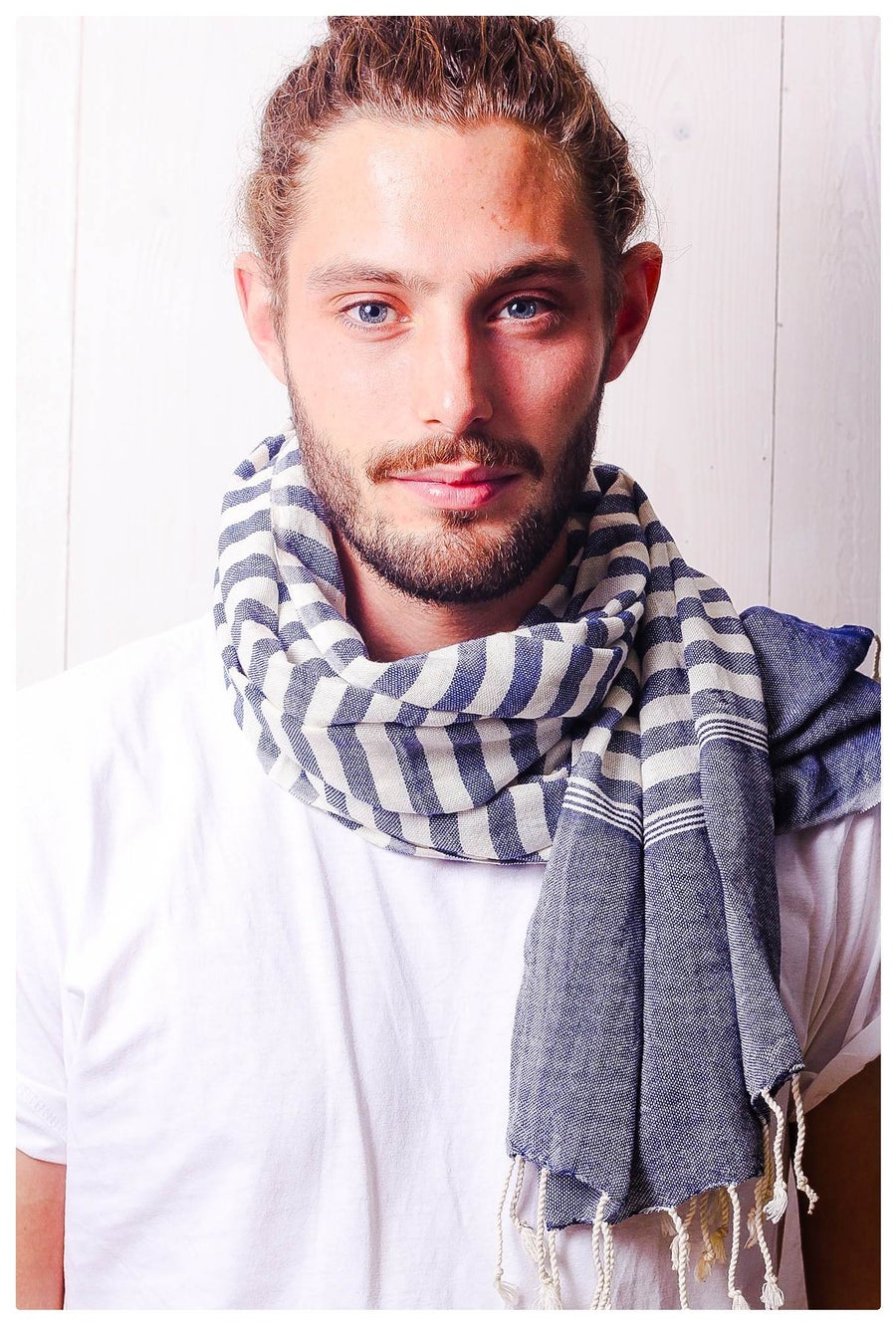Image of Schal aus Baumwolle ∞ Blue Jeans