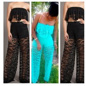 Image of Lovely Me Lace Pants Set