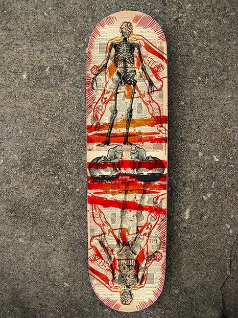 "Image of ""Skin & Bones Hero"" Limited Edition Skate Deck"