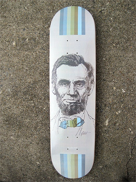 "Image of ""Four Score & Seven Years Ago"" Limited Edition Skate Deck"