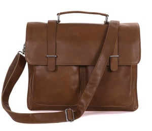 "Image of Handmade Superior Leather Briefcase / Messenger / 14"" 15"" Laptop or 13"" 15"" MacBook Pro Bag (n90)"