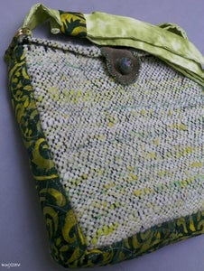 Image of SALE! Green Snow Rockstar, handmade bag
