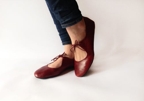 Image of Ballet flats - Passion in Deep Red