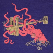 Image of Squid Attack Indigo T-shirt