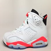 Image of Nike Air Jordan 6 VI White Infrared 384664-123